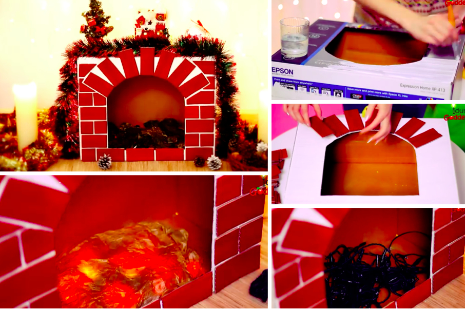 Tuto : Réalisez Une Belle Décoration De Noël Avec Une tout Acheter Une Cheminée En Carton