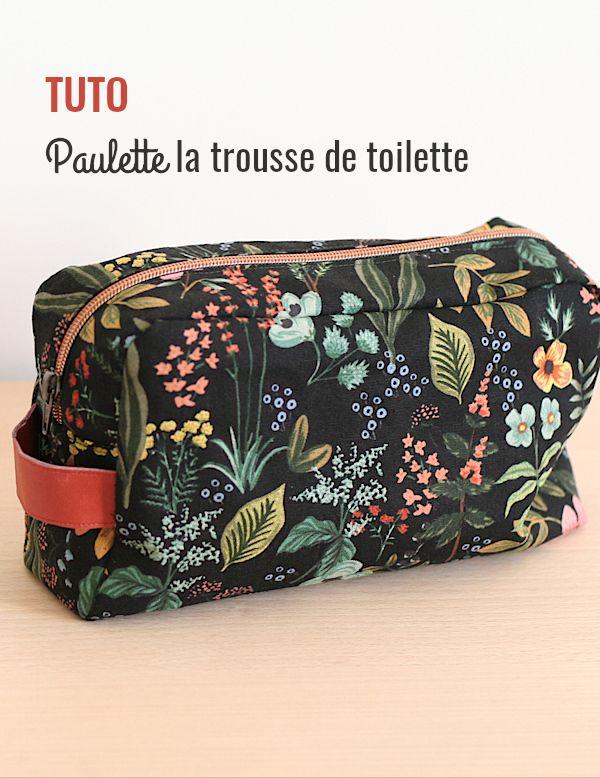Tuto Trousse De Toilette Avec Doublure | Trousse De intérieur Trousse De Toilette Brodée Prénom