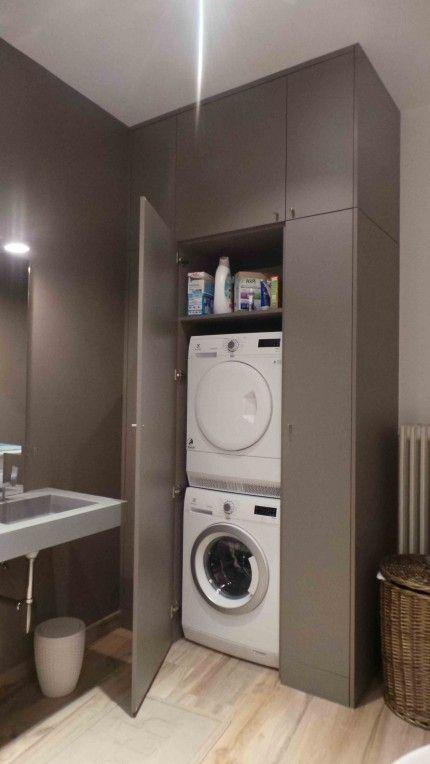 Un Placard / Une Buanderie   Aménagement Salle De Bain destiné Placard Toilette