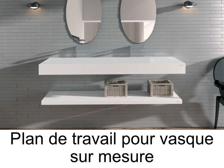 Vasques Plan Vasque - Plan De Travail Sur Mesure En Solid dedans Plan De Toilette Sur Mesure