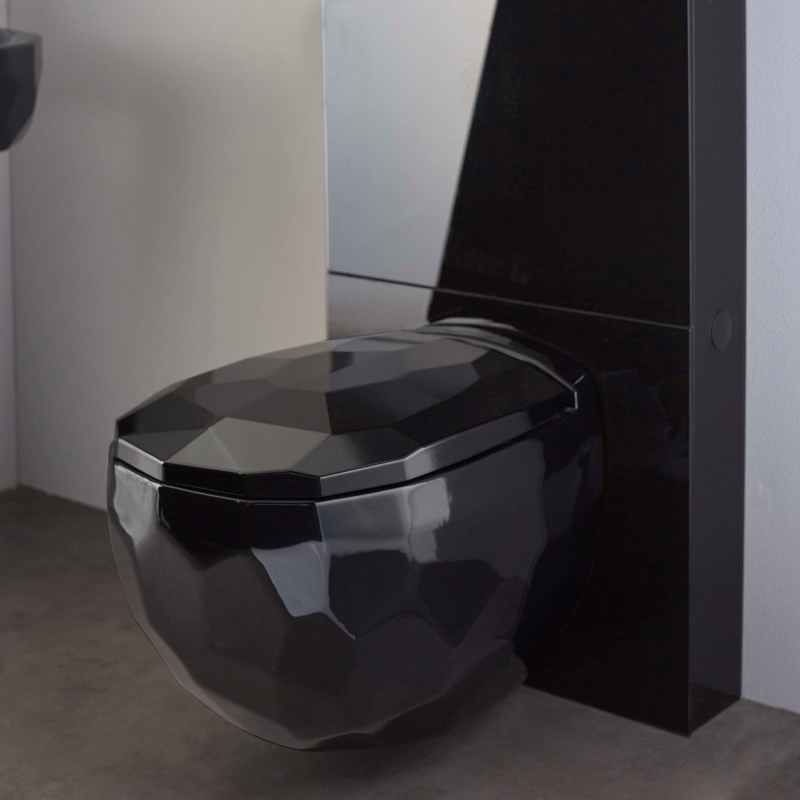 Vente - Cuvette Suspendue En Céramique Noire Pour Wc Haut serapportantà Toilettes Noires