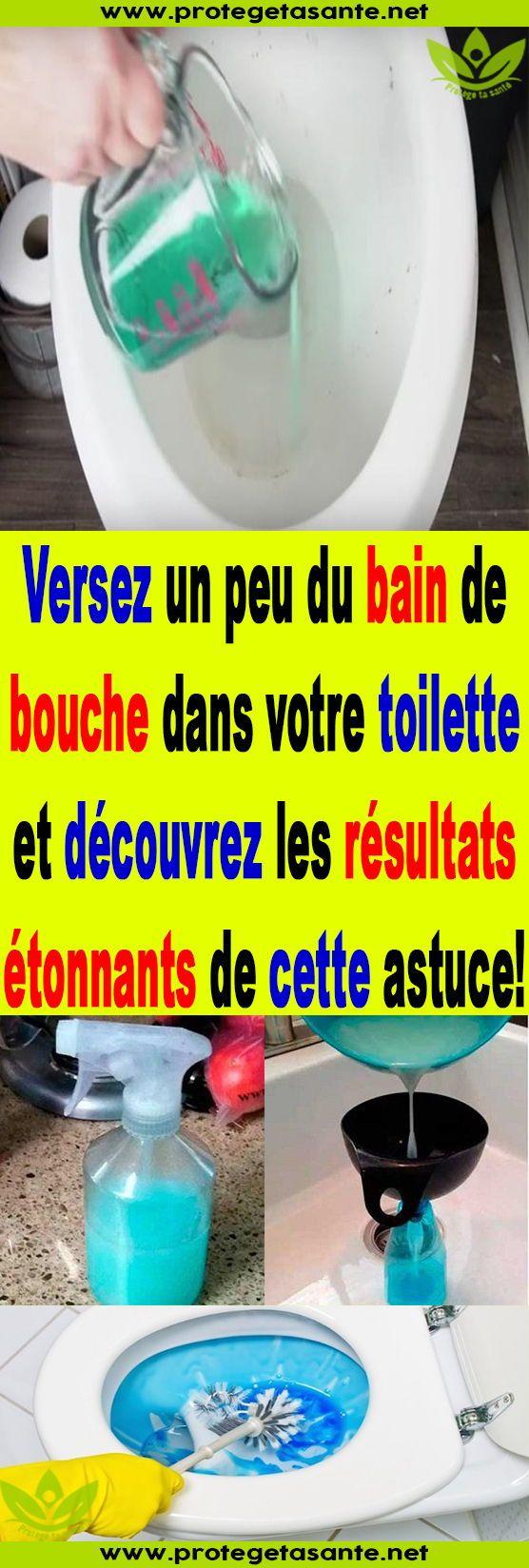 Versez Un Peu Du Bain De Bouche Dans Votre Toilette Et destiné Toilettes Bouchés