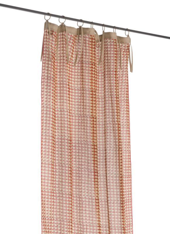 Voilage Indienne En Coton Imprimé - Terracotta Ecaille intérieur Rideau Indien