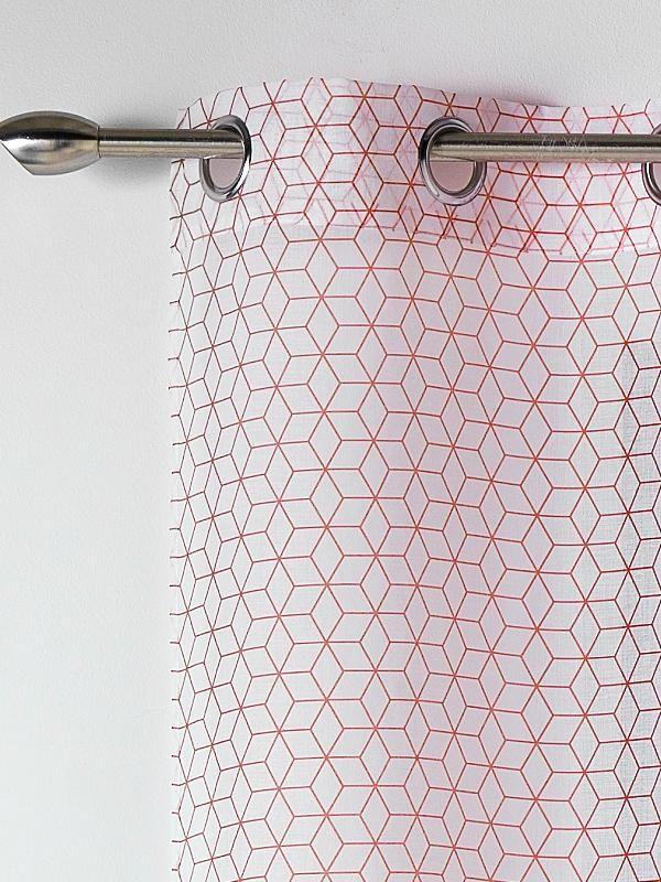 voilage motif geometrique scandinave