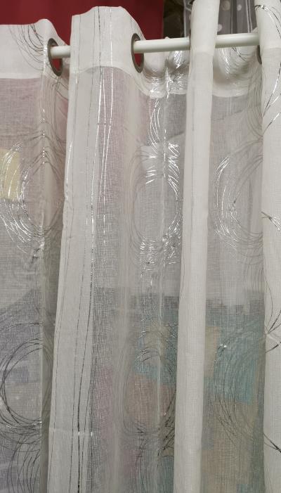 Voilage Rideau, Couleur Avec Motif Moderne, Prêt À Poser intérieur Rideau Hauteur 220
