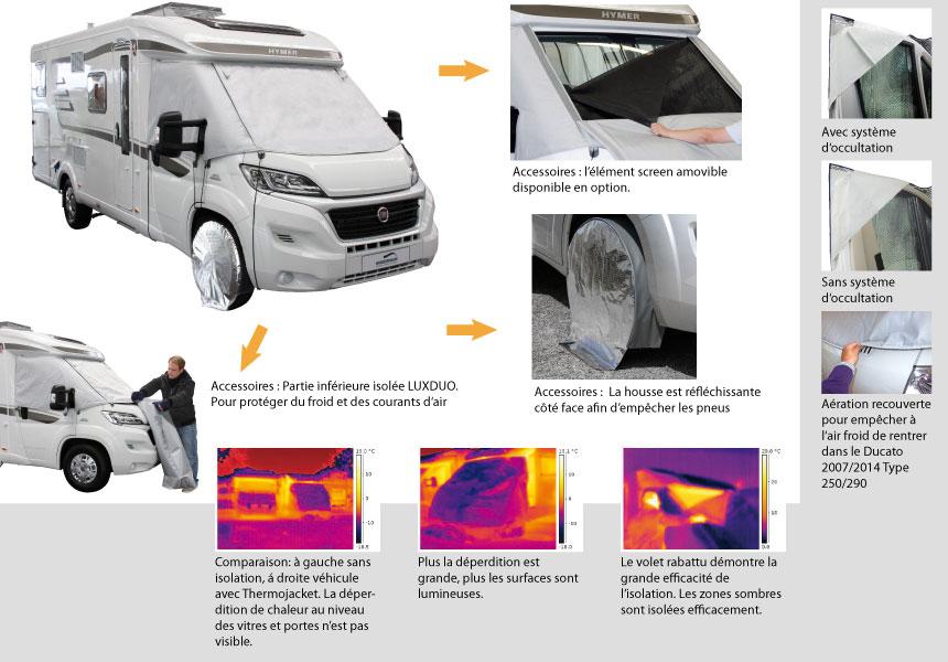Volet D'Isolation Extérieur Lux | Accessoire De Camping Car à Rideau Isotherme Exterieur Camping Car