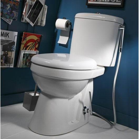 Wc À Poser - Wc, Abattant Et Lave-Mains - Toilette | Leroy serapportantà Toilette Sortie Verticale
