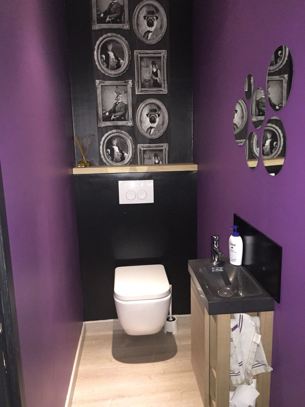 Wc Made In Moi Wc Suspendu Peinture Prune Leroy Merlin dedans Toilettes Leroy Merlin
