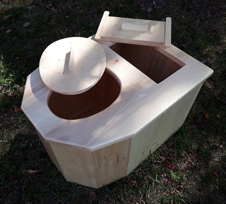 Wc Sec Moderne En Bois Sans Traitement, Pour L'intérieur avec Toilette Seche Interieur