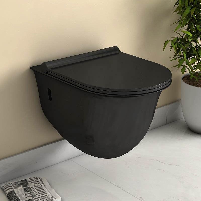 Wc Suspendu Alta Noir Avec Abattant Slim intérieur Toilette Noir Suspendu
