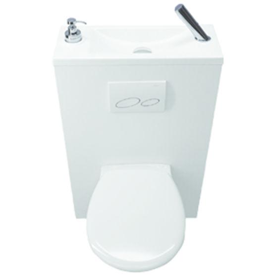 Wc Suspendu Avec Lave-Mains Intégré   Wici Bati - Atelier pour Toilette Suspendu Avec Lave Main