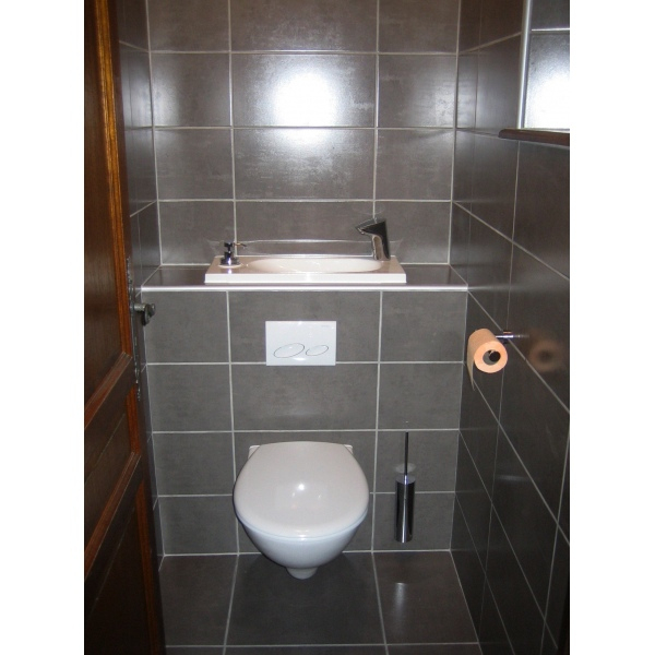 Wc Suspendu Design Avec Lave-Main - Wici Bati destiné Toilette Suspendu Avec Lave Main