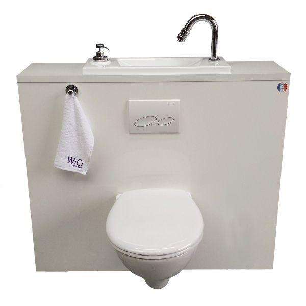 Wc Suspendu Design Avec Lave-Main - Wici Bati Http://Www à Toilette Suspendu Avec Lave Main