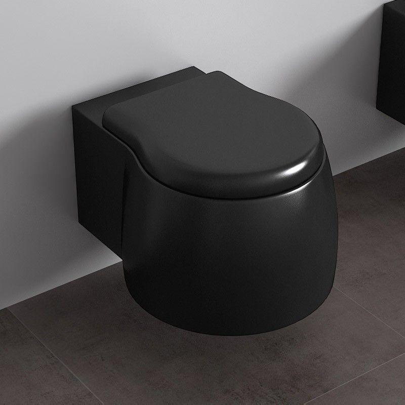 Wc Suspendu Dunia Noir Satiné à Toilette Noir Suspendu