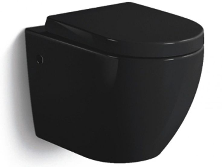 Wc Suspendu Kenji - Noir En 2019 | Wc Suspendu, Wc serapportantà Toilette Noir Suspendu