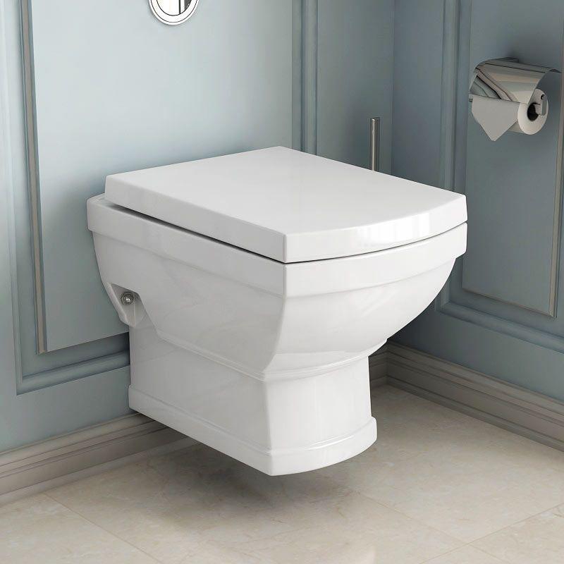 Wc Suspendu Retro Josephine + Abattant dedans Toilettes Suspendus