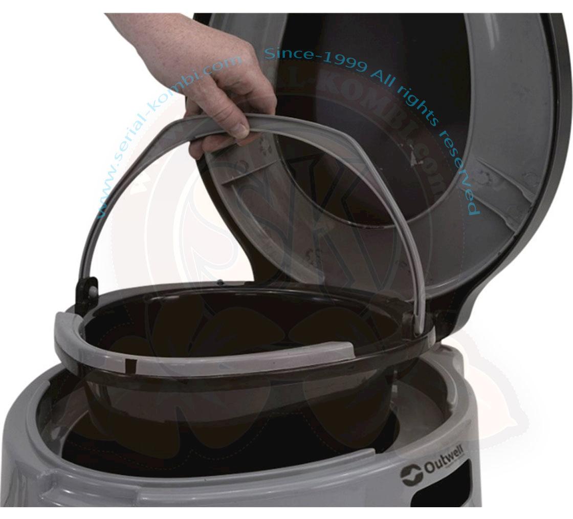 Wc Toilette De Camping Portable En Plastique Avec Seau De encequiconcerne Seau Toilette Seche