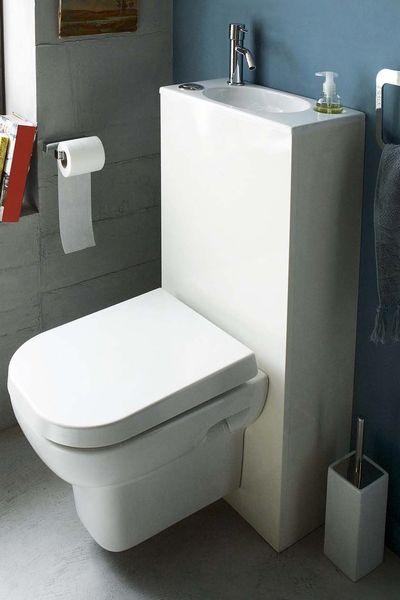 Wc : Toilettes Lavantes, Sans Bride, Lave-Mains Intégré encequiconcerne Toilettes Leroy Merlin