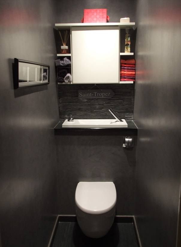 Wici Bati En 2020   Déco Salle De Bain Toilette, Wc avec Toilette Suspendu Avec Lave Main