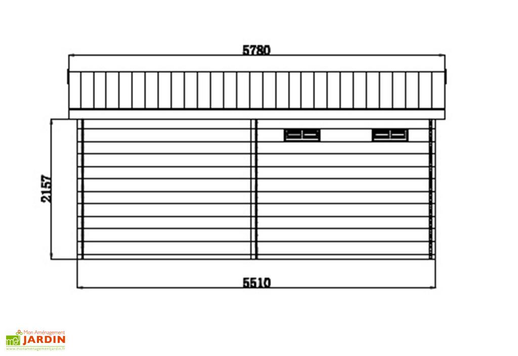 Abri De Jardin + Auvent En Bois Composite Woodlife 19,2 M² dedans Abri De Jardin Composite Woodlife