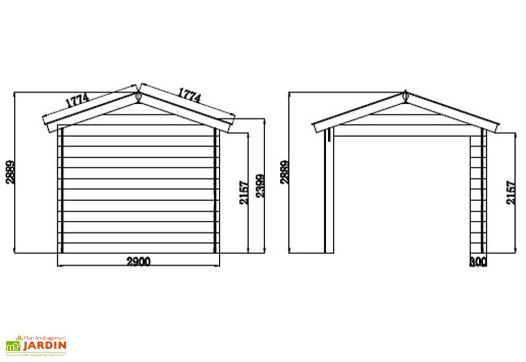Abri De Jardin + Auvent En Bois Composite Woodlife 19,2 M² destiné Abri De Jardin Composite Woodlife