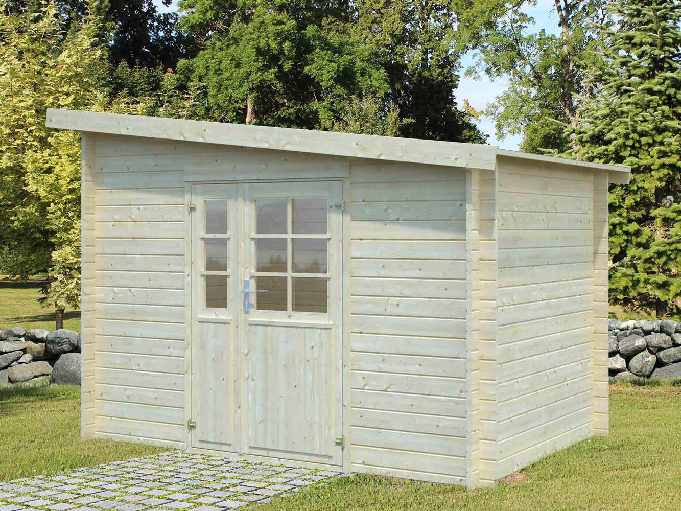 Abri De Jardin Bois Labeaume 9.86 M² Adossable - Oogarden encequiconcerne Abri De Jardin Adossable 20M2
