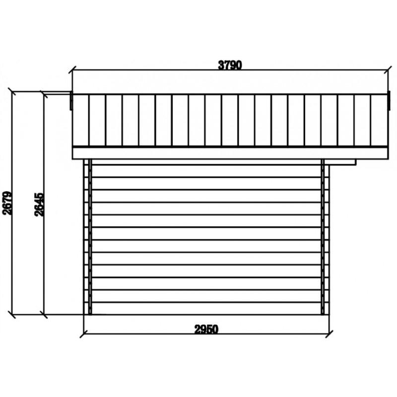 Abri De Jardin Composite Aspect Bois 9M² Porte Alu Woodlife destiné Abri De Jardin Composite Woodlife