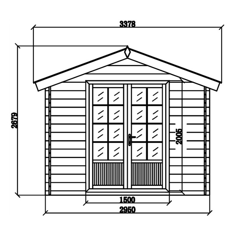 Abri De Jardin Composite Aspect Bois 9M² Porte Alu Woodlife encequiconcerne Abri De Jardin Composite Woodlife