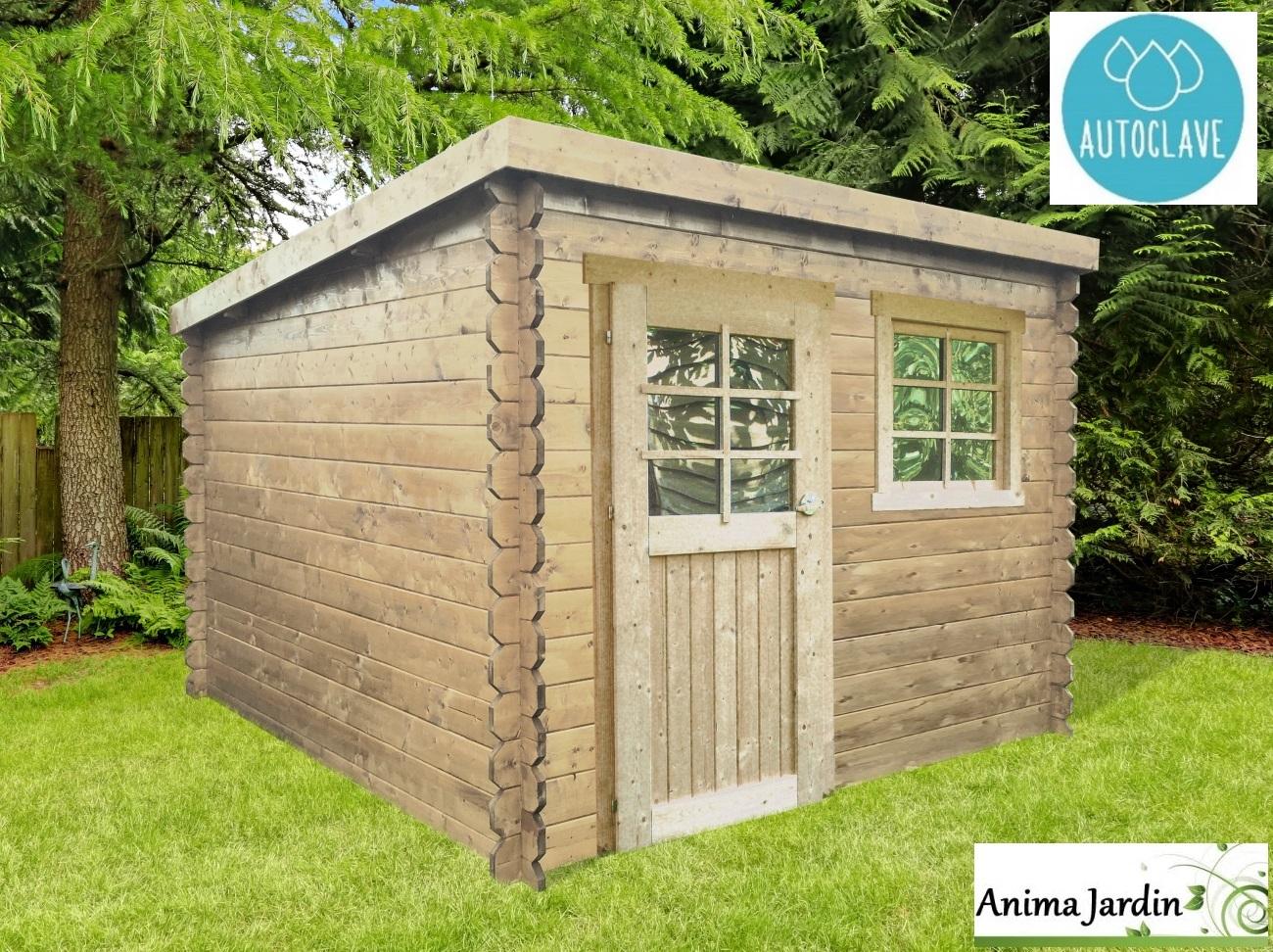 Abri De Jardin En Bois Autoclave 28Mm, Nevers, 5M², 1 serapportantà Abri De Jardin Adossable 20M2