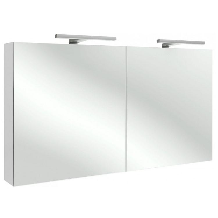 Armoire De Toilette 120Cm 2 Portes Avec Éclairage Led avec Éclairage Armoire De Toilette ...