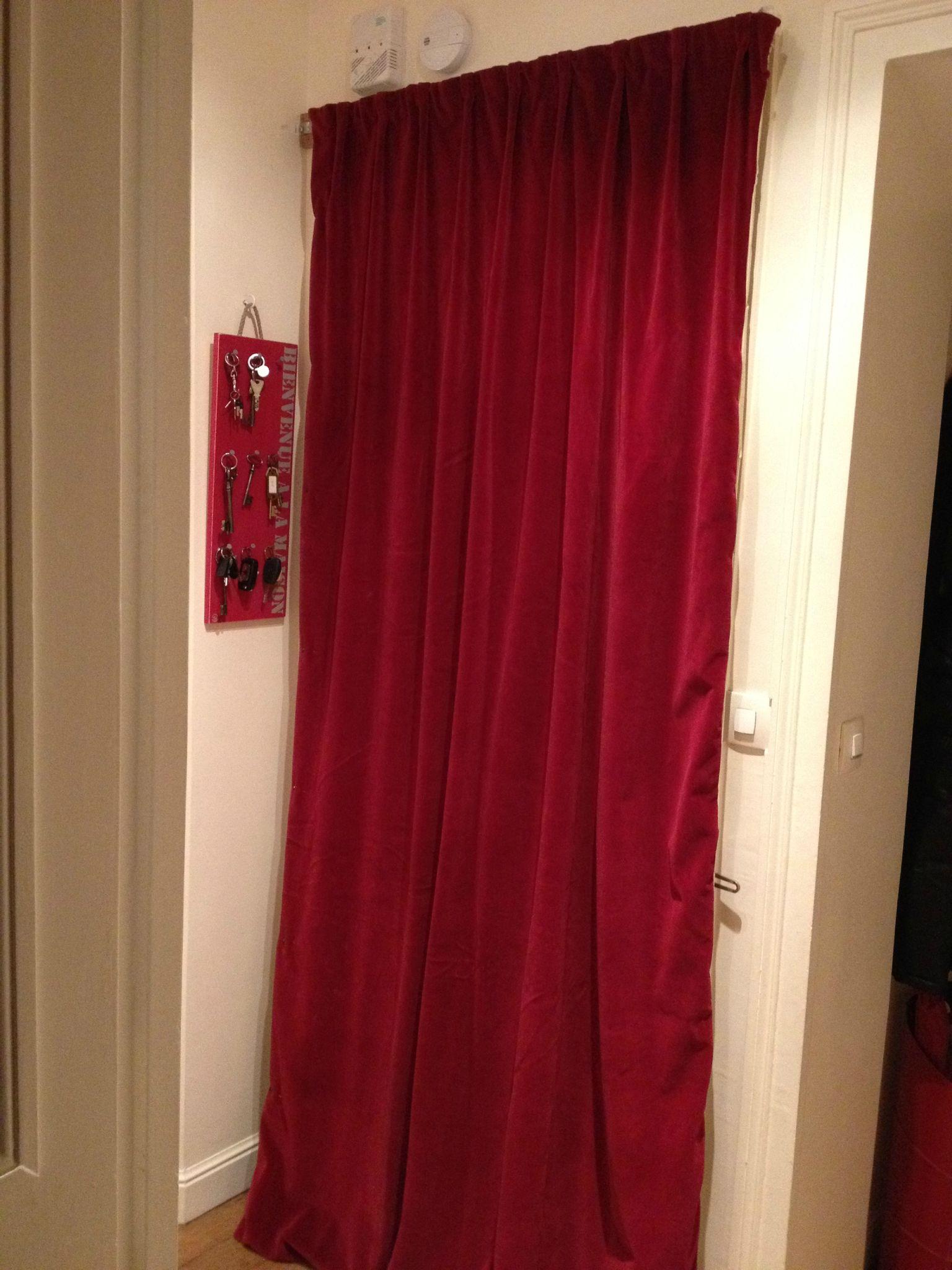 rideau isolant phonique porte d'entrée