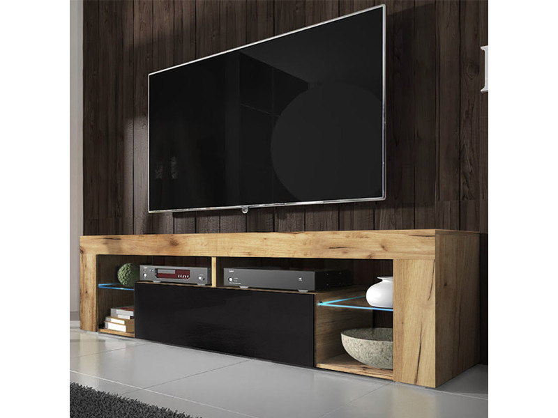Meuble Tv Banc Tv Hugo 140 Cm Chene Lancaster Dedans Meuble Tv Avec Enceinte Integre Conforama Agencecormierdelauniere Com Agencecormierdelauniere Com