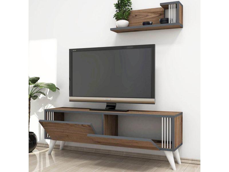 Meuble Tv Design Avec Etagere Nicol L 120 X H 42 Cm Avec Meuble Tv Avec Enceinte Integre Conforama Agencecormierdelauniere Com Agencecormierdelauniere Com