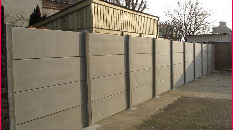 plaque de beton pour cloture brico depot  altoservices