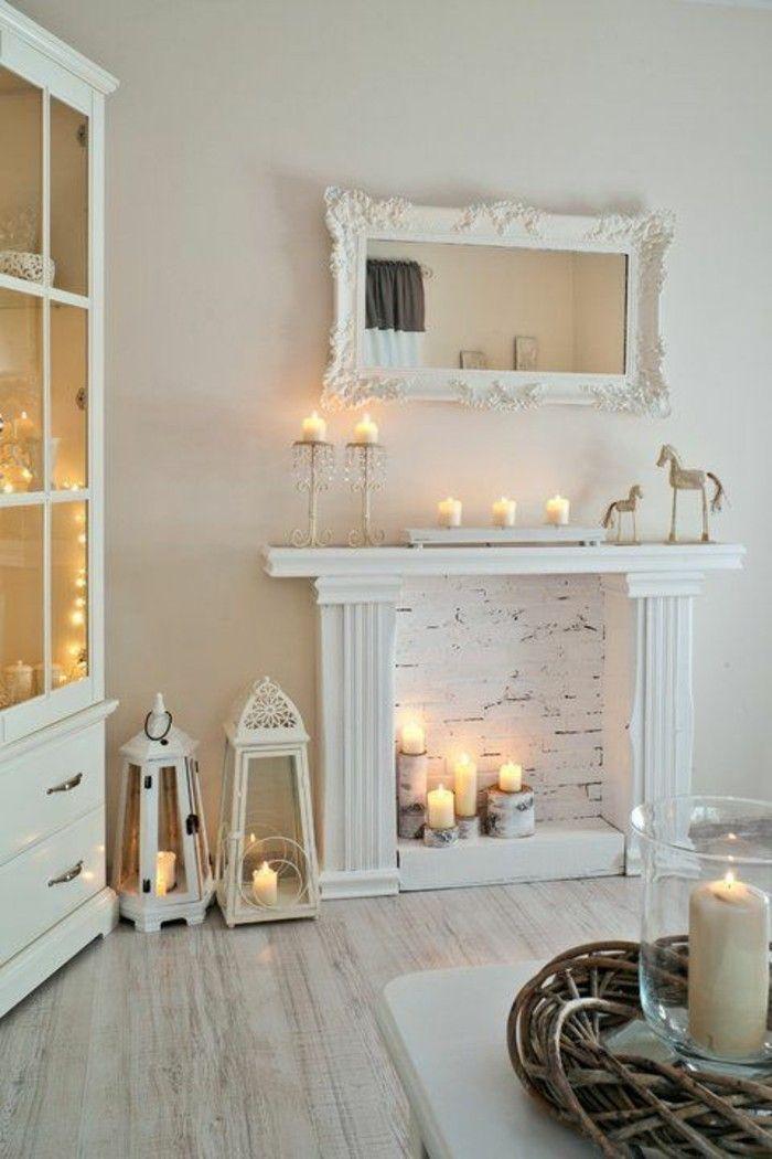 60 Idées En Photos Avec Éclairage Romantique!   Meubles intérieur Fausse Cheminée Maison Du Monde