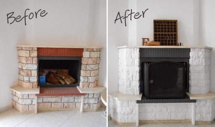 Aouts-Pins: The Big Project: Fireplace Makeover pour Peindre Une Cheminée En Pierre