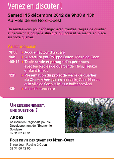 Caen Savez-Vous… » Les Habitants Du Chemin-Vert Invités À avec Piscine Du Chemin Vert Caen