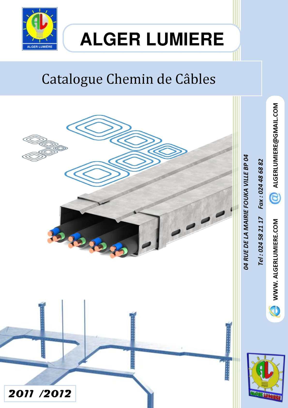 Calaméo - Catalogue Chemin De Câbles 2011/2012 destiné Lcmt Chemin De Cable