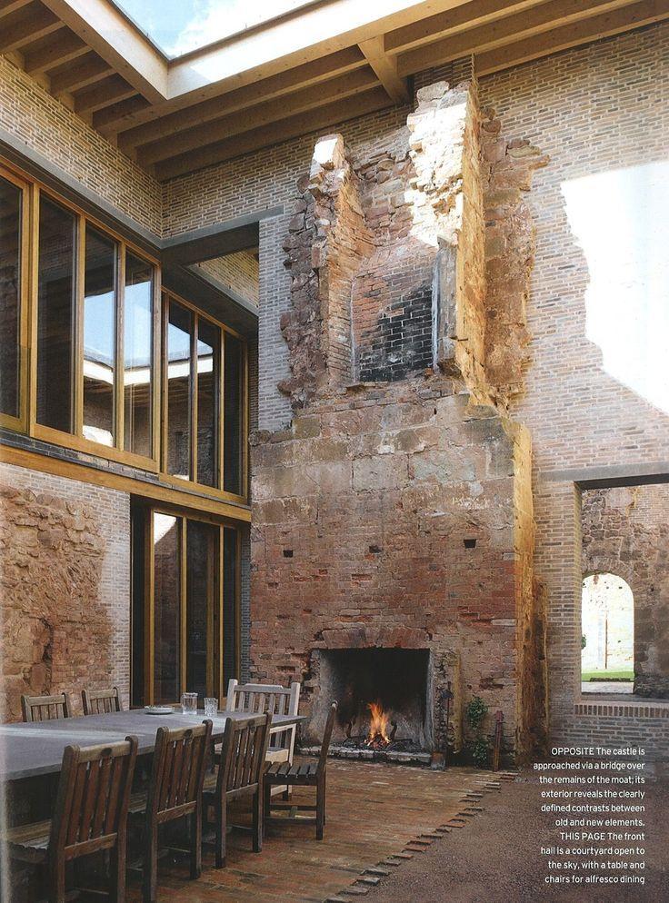 Cheminée | Château Moderne, Architecture, Maison intérieur Cheminée Rénovée