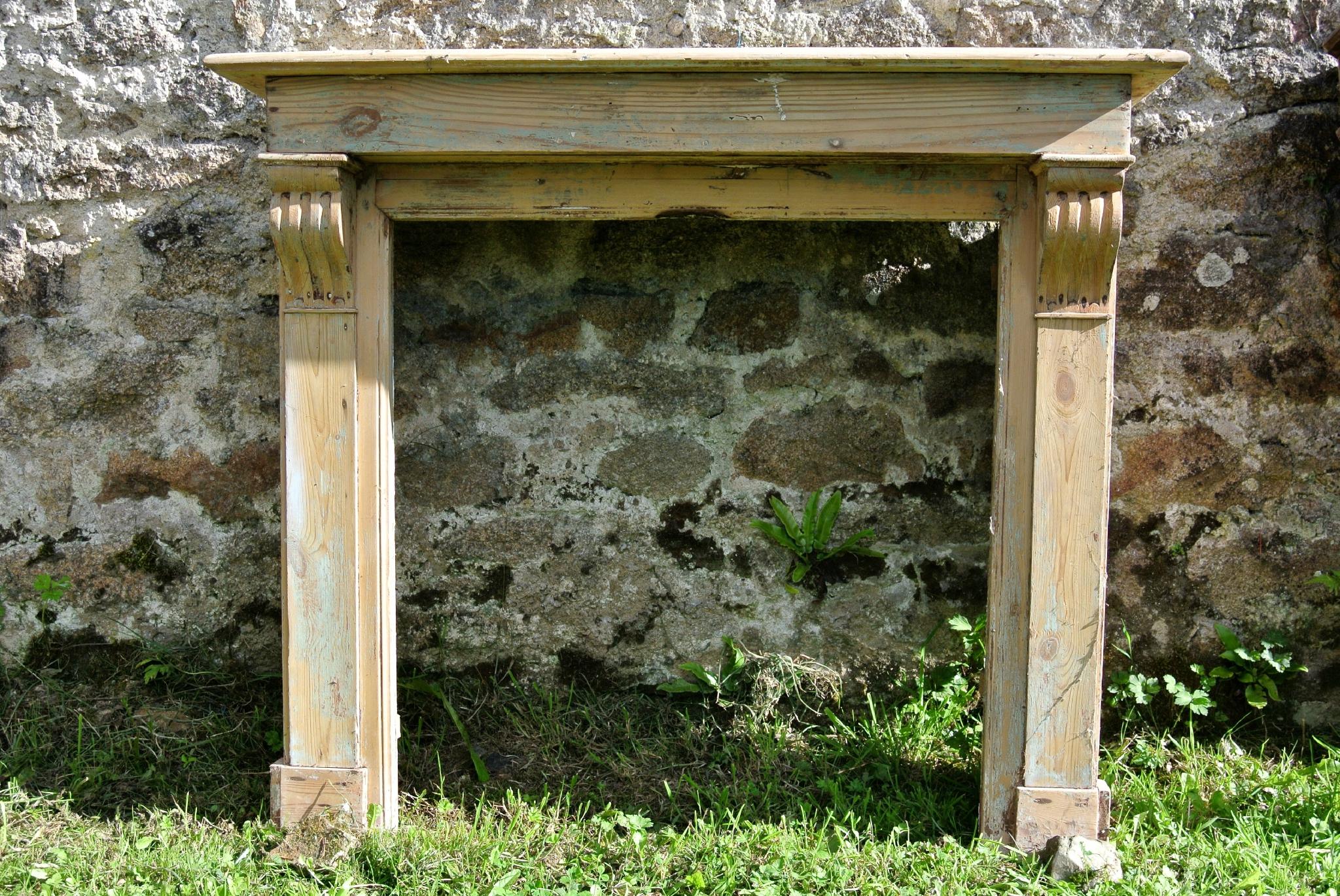 Contour De Cheminee En Bois — Lamichaure serapportantà Contour De Cheminée