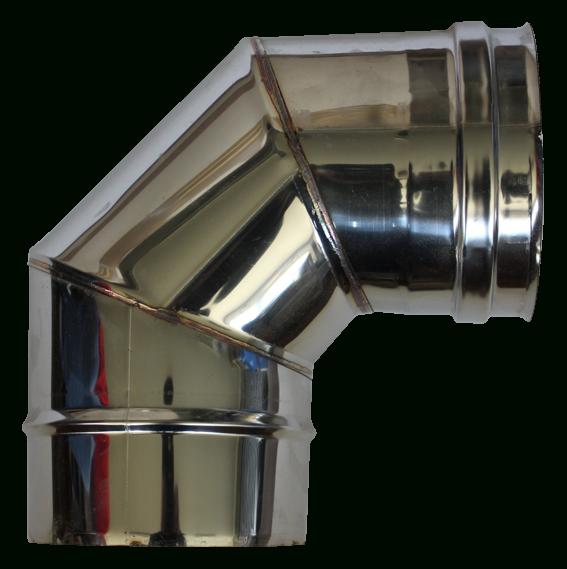 Coude À 90° Double Paroi Inox - Diamètre Int : 150 Mm/Ext dedans Conduit De Cheminée Inox