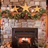 Décoration Du Manteau De Foyer Pour Noël - Je Décore serapportantà Fond D Écran Cheminée Pour Tv