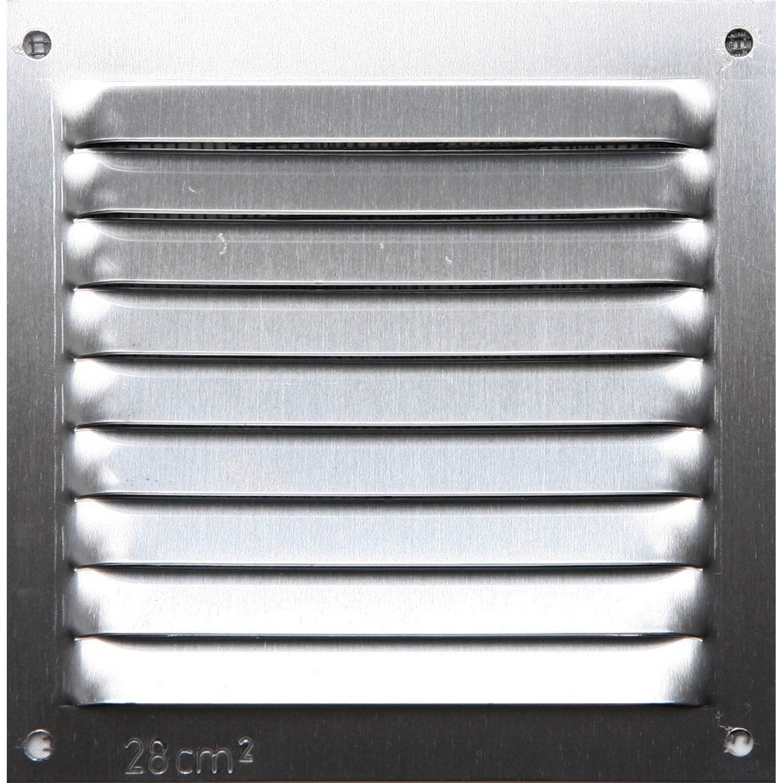 Grille D'Aération Aluminium Anodisé, L.10 X L.10 Cm intérieur Grille D Aération Pour Cheminée