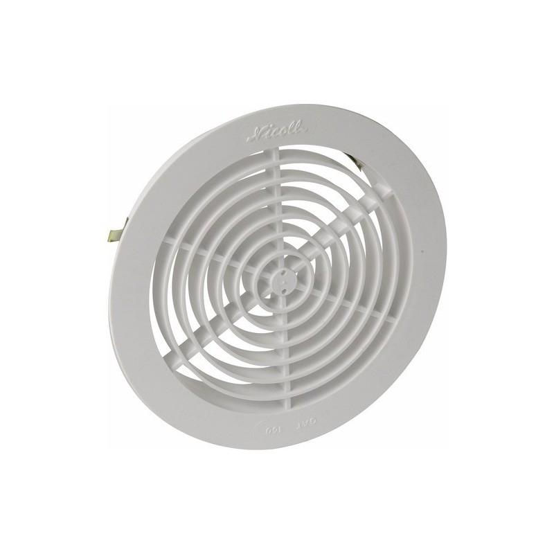 Grille D'Aération Pour Tube Pvc Tuyau Gaine Ø125 Avec concernant Grille D Aération Pour Cheminée