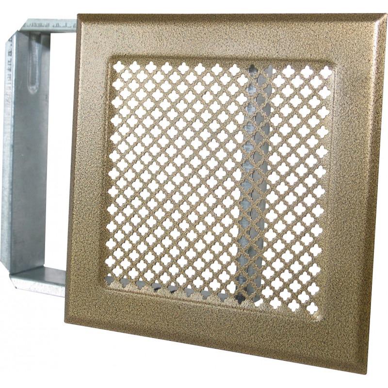 Grille De Cheminée Avec Précadre Dmo - Bronze - Dimensions intérieur Grille D Aération Pour Cheminée