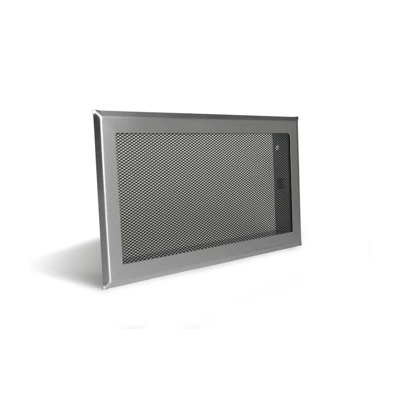 Grille De Ventilation Inox Et Acier Equation, L.34.5Xh.19 encequiconcerne Grille Aération Cheminée