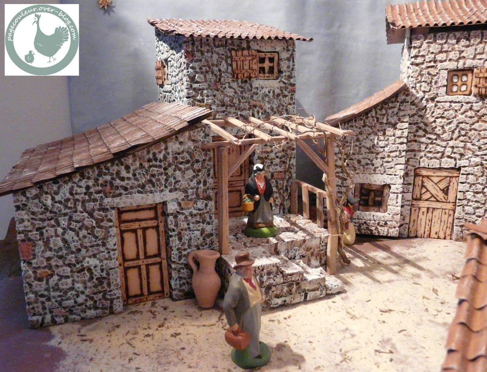 La Crèche: Fabrication D'Une Maison - Le Blog De Pagecouleur à Comment Fabriquer Une Cheminée De Maison