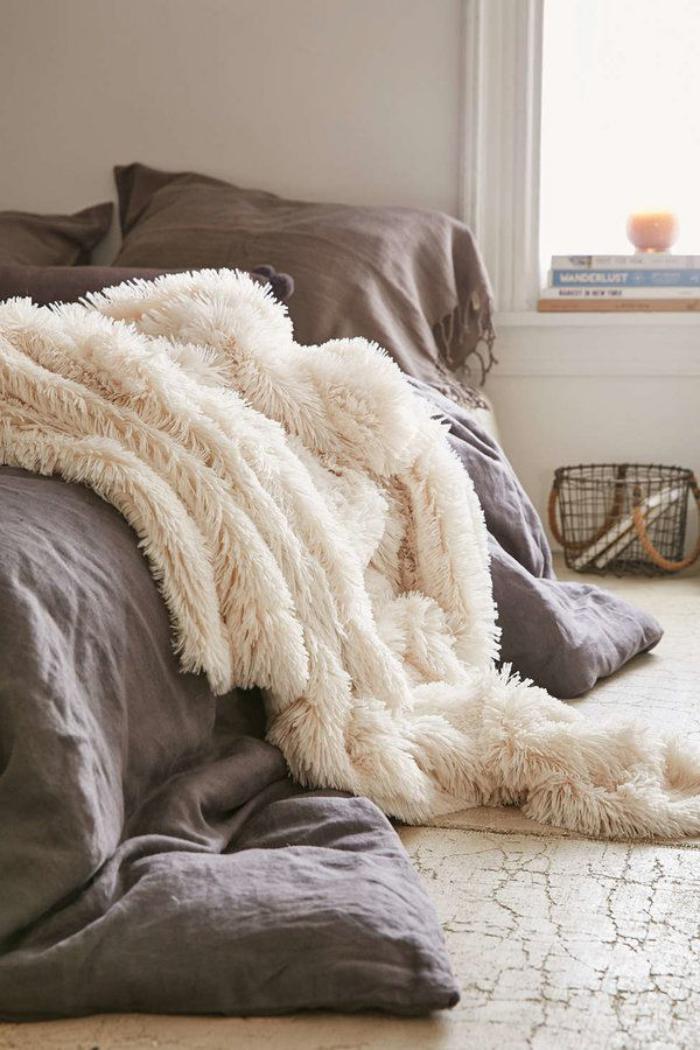 Le Plaid Fausse Fourrure - Confort Pour Vous Et Style tout Fausse Cheminée Décorative Gifi