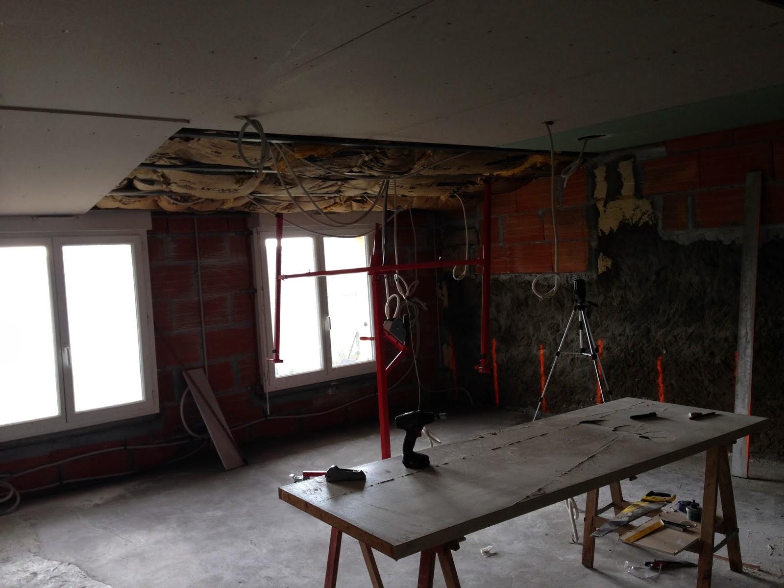 Notre Projet: Placo Plafond Chambre Parentale intérieur Distance Conduit Cheminée Placo