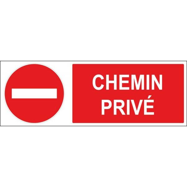 Panneau Et Autocollant Sens Interdit Chemin Privé pour Panneau Chemin Privé